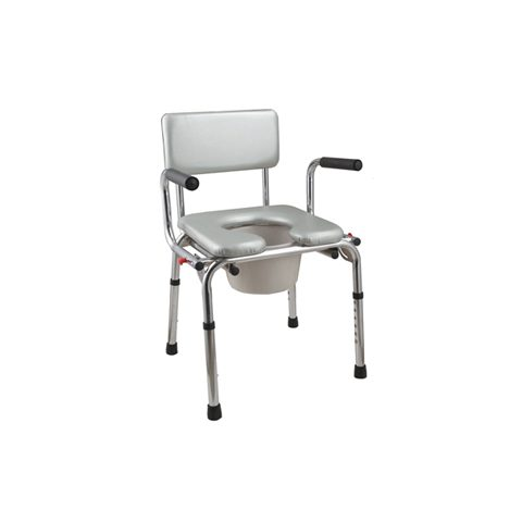 Extra wide Steel commode chair P49 CA6671